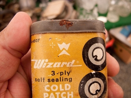 All sizes | Cool #mark #container #yellow #emblem #rust #tin #vintage #logo #wizard