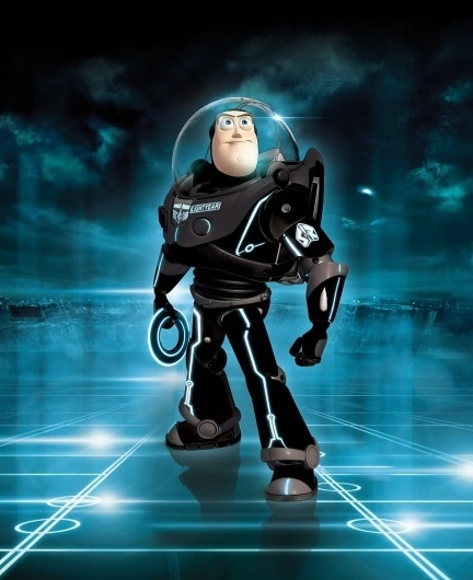 Tron - Buzz enters the Grid by ~iamclu #buzz #lightyear #tron