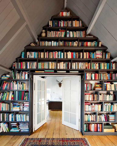 this is so perfect.jpg 480×600 pixels #door #books #library #home