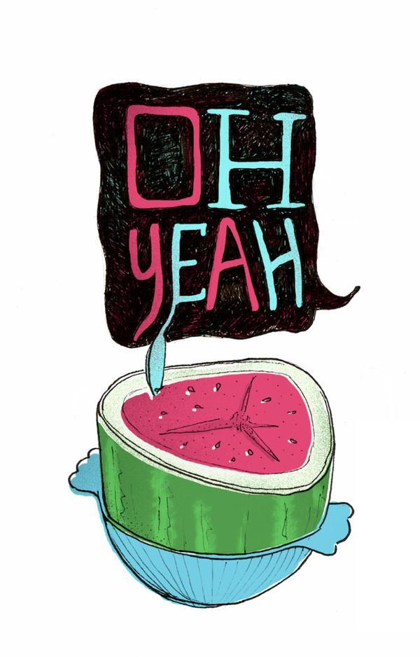 oh-yeah — Illustration by Ryan Crane #print #illustration #watermelon