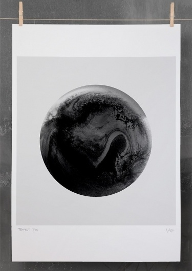 Editions of 100 — TEMPEST TWO #white #black #poster #and #circle
