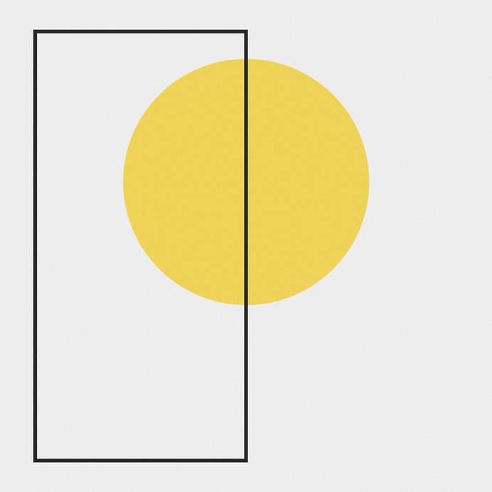 //// #geometry #abstraction #yellow #shapes #circle #minimalist