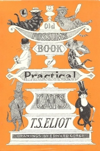 TS Eliot and kitty book cover. - Writers and Kitties #print #poster
