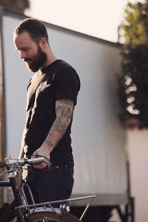 Convoy #bicycle #beard #tattoos