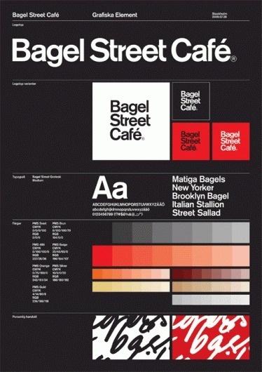 Nikolaj Kledzik – Art Direction & Graphic Design – Bagel Street Café – Visual Identity #branding #guidelines #identity #signage #logo