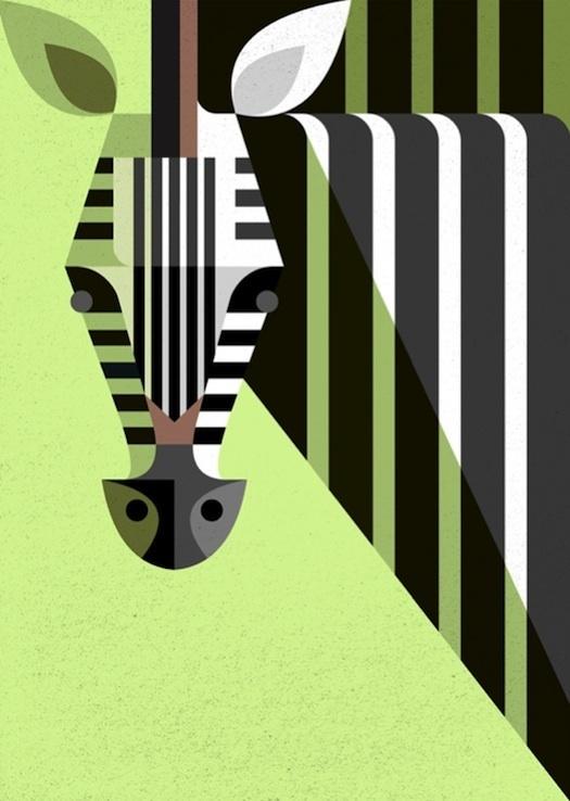 Retro Modern African Mammal Illustrations My Modern Metropolis #illustration #animal #geometric
