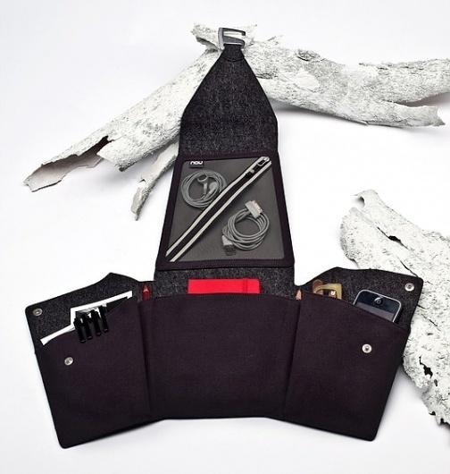 Fluent Stash - Wool Die Cut Origami Organizer - Nau.com #felt #nau