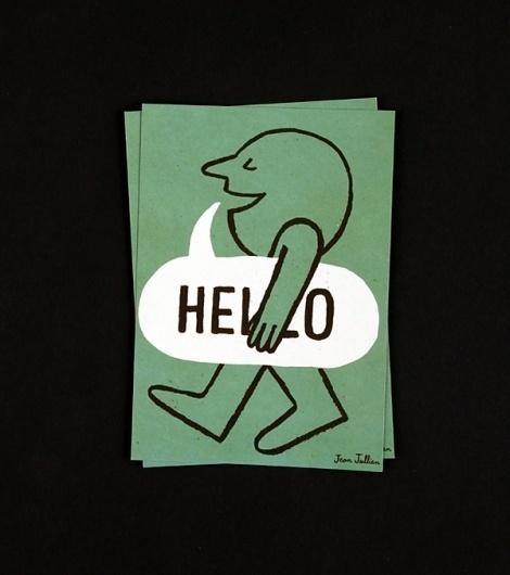 Jean Jullien's online portfolio: YCN #design #illustration #drawn #art #hello #cute #hand #typography
