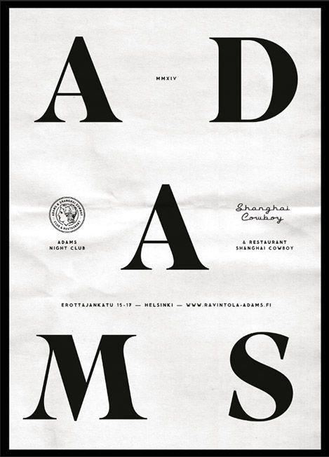 Adams   Erapuro #black #white #poster #typography
