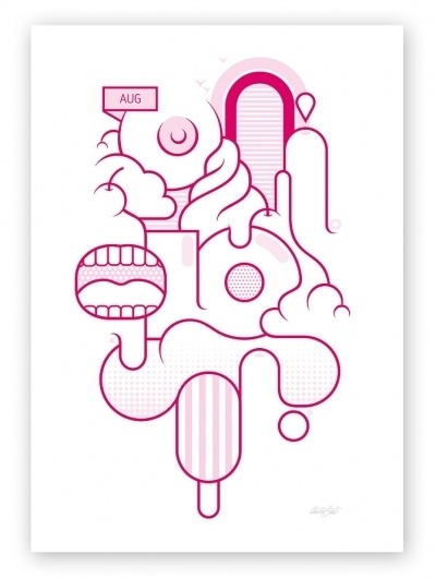 André Beato #vector #festival #pink #illustration #poster