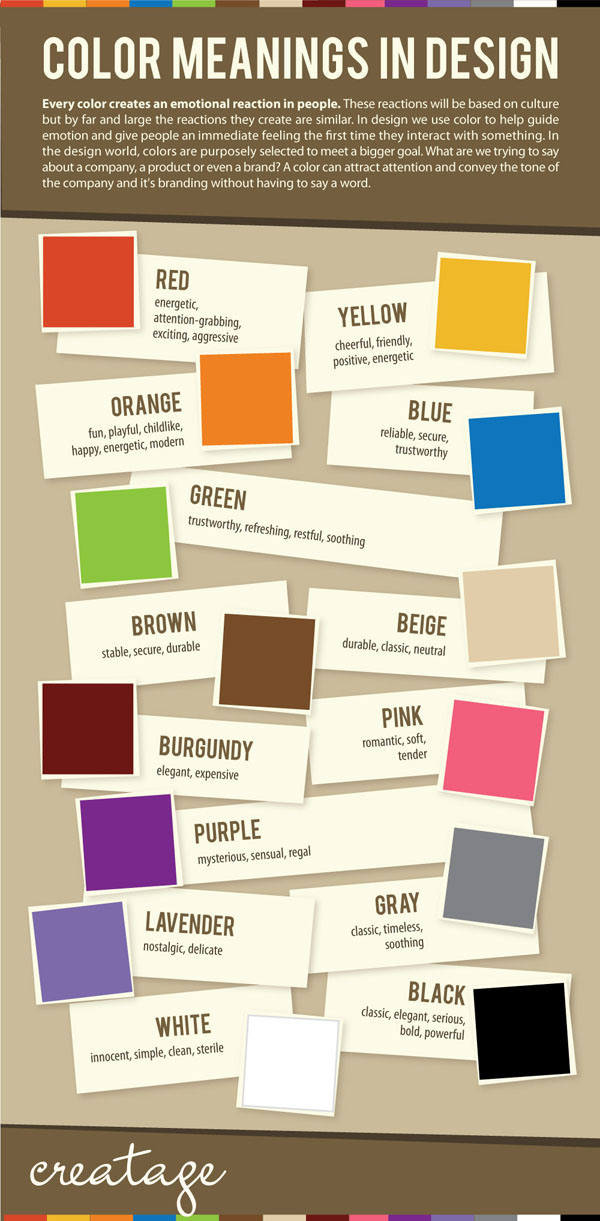 Color Meanings in Design [Infographic]