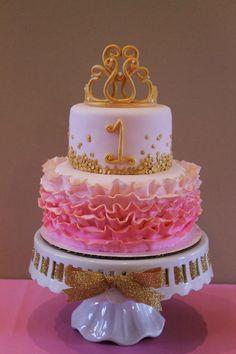 3 tier strawberry cake