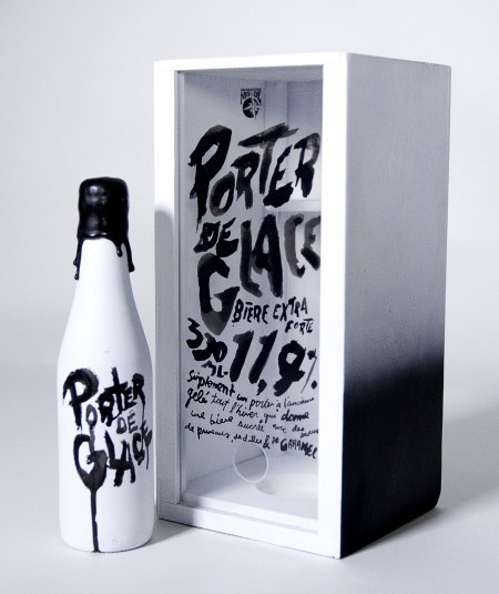 Porter de Glace packaging #beer #packaging #drawn #hand #typography