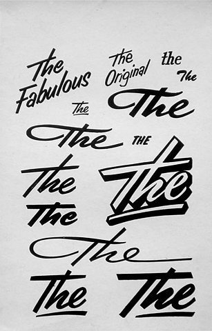 Joe Galbreath GD/MFA 2009 #signage #script #advertising
