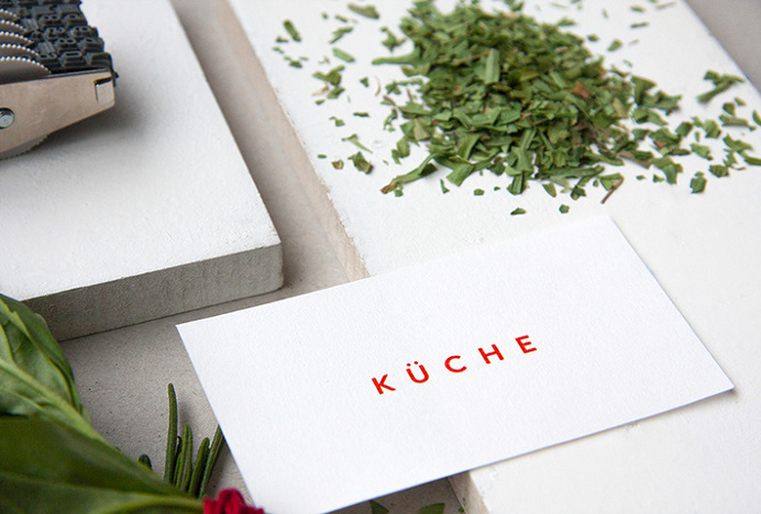 Küche by Rebecca Duff-Smith #graphic design #stationary #print