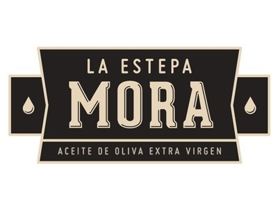 Dribbble - La Estepa Mora Olive Oil · Option 2 by Juanjo Marnetti #lettering #mora #olive #drop #vintage #logo #oil