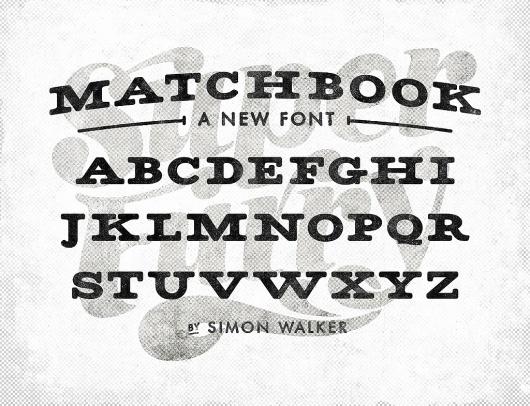 All sizes | Matchbook font | Flickr - Photo Sharing! #font #super #vintage #type #furry