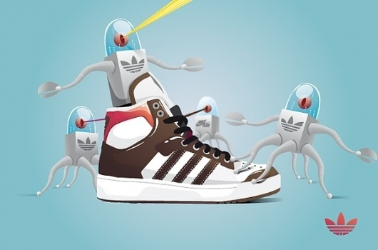 Sneaker's lover on the Behance Network #adidas #trainer #top #shoe #illustration #sneaker #character #high