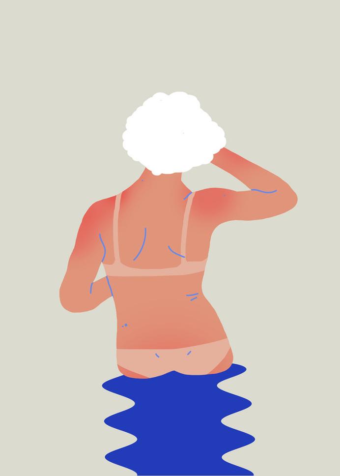 Tan lines - Sara Andreasson #illustration