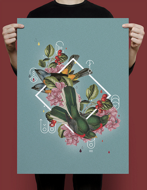 photo #geometry #hipster #geometric #bird #poster #flower