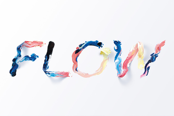 Sawdust - Flow #pinted #flow #painted #paint #handmade #sawdust #type #experiment #typography