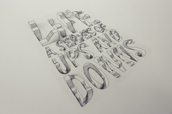 3D Typography |Â Design Resources #quote #3d #typography