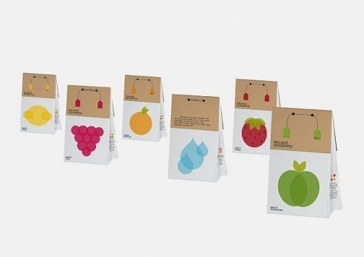 Tea & Sympathy - flipando en PANTONE #ataz #branding #packaging #fruits #food #tea #andrea #student