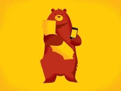 Dribbble - I am a bear, I do not understand what I am holding by Anna Hurley #illustration #bear #california #anna hurley