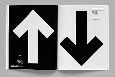 FFFFOUND! #design #graphic #arrows #spread #magazine