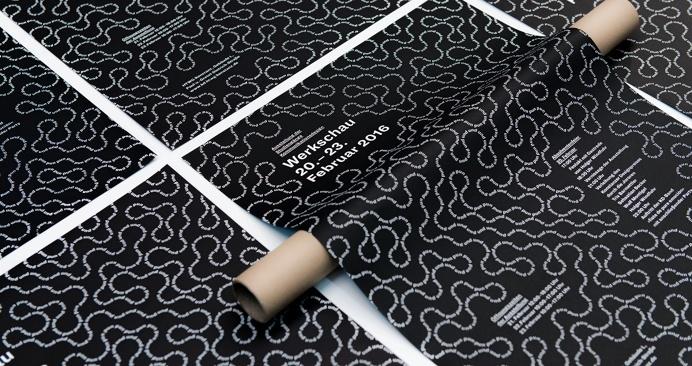 werkschau konstanz branding identity minimal black white poster type typography designblog graphic design inspiration best inspire www.minds