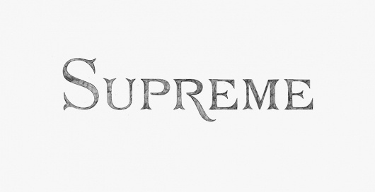 Ill Studio - Supreme NYC #type #pencil #studio #ill