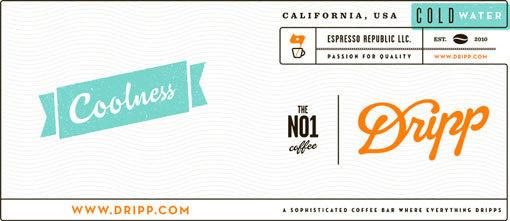 Dripp Label Artwork #coffee #label