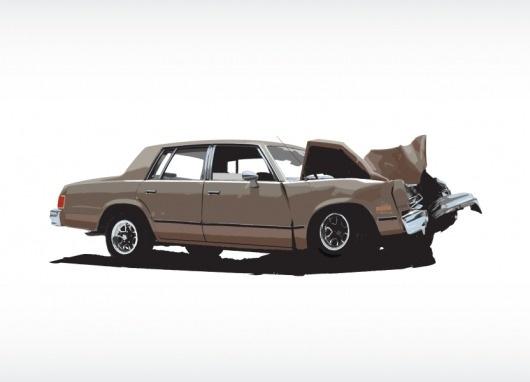 WAX/AESHTETIC ILLUSTRATION PAGE 1 #illustration #brown #graphic #car