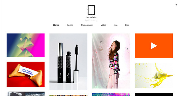 Showfolio - Minimal Portfolio Theme for WordPress #portfolio #design #based #website #grid #photography #minimal #art #wordpress