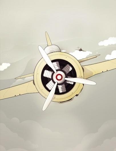 Selected illustrations I. on the Behance Network #illustration #plane