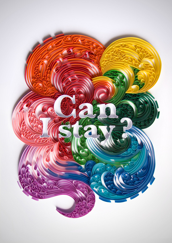 Beautiful cut paper illustration by Lavanya Naidoo #font #cut #illustration #colorful #paper #typography