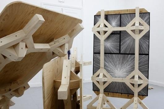 manystuff.org — Graphic Design daily selection » Blog Archive » Wood's bad vs RoBoClop – Mathias Schweizer #schweizer #plywood #art #installation