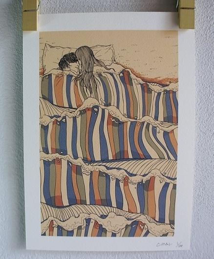 Etsy Transaction - Ocean of Love Poster #hugs #ocean #love #kiss