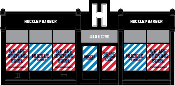Proud Creative's branding for Chris Ward's, 'Huckle The Barber'. #creative #chris #branding #proud #barber #the #ward #huckle