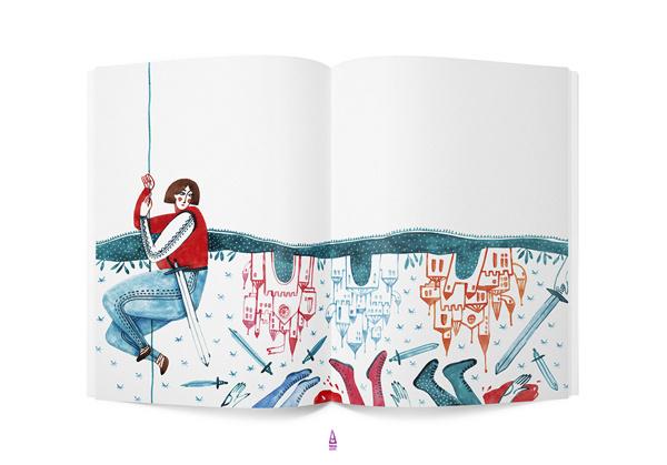 Praslea cel Voinic si Merele de Aur VODAFONE 2012 on the Behance Network #castle #book #illustration #watercolor #knight