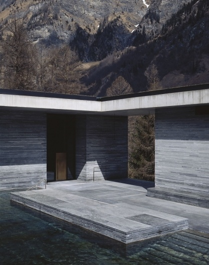 Hélène Binet x Peter Zumthor | September Industry #zumthor #bath #water #stone #swizerland #thermal #pool #peter #architecture #vals