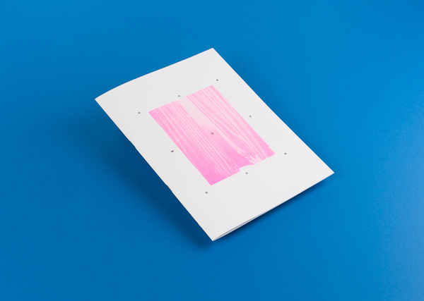 one way one #zine #riso #pink #print #design #book #photography #blue #booklet #editorial #typography