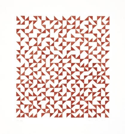 The Josef & Anni Albers Foundation #anni #ink #red #geometric #dr #on #1975 #albers #b #xx #paper