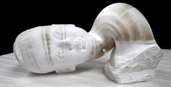 The Bizarre, Flexible Paper Sculptures of Li Hongbo #sculpture #paper #flexible
