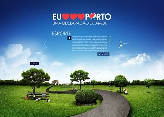 Pepsi . Proposta Eu Amo Porto on the Behance Network #parque #grass #alegre #sky #pepsi #porto