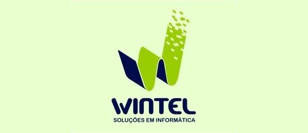 letter w logo design wintel #inspiration #w #design #letter #logo