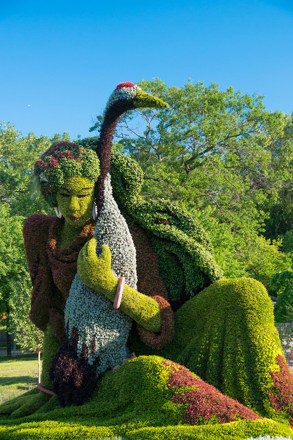 Remarkable Plant Sculptures at the 2013 Mosaicultures Internationales de Montréal #sculpture #plants #art