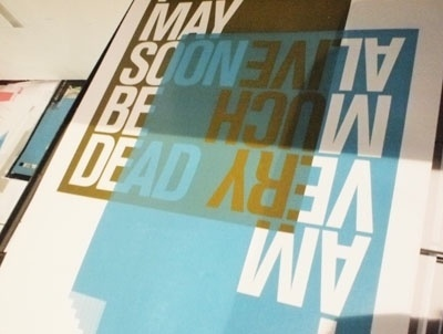 the johnson banks thought for the week #screen #printing #posters #typography