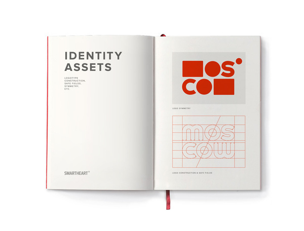 Moscow Brand identity Assets #logotype #red #geometry #print #city #book #russia #brand #star #moscow #logo