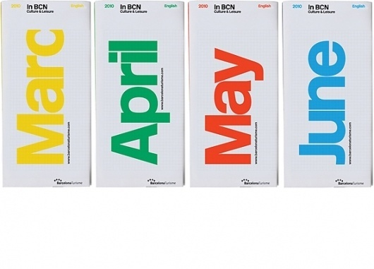 Barcelona pocket tour guides by BCN #information #guide #print #barcelona #typography